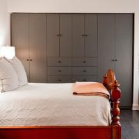 Grey Modern Design Lacquer Bedroom Cabinet Wardrobe