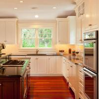 Solid Wood Maple White Kitchen Cabinets