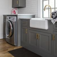 High End Solid Wood Shaker Cabinets For Laundry Room