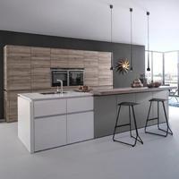 High End Custom Vinyl Wrap PVC Kitchen Cabinets